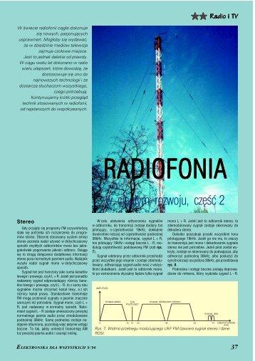 Radiofonia w ciągłym rozwoju, cz. 2 - Elportal