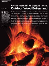 Adverse Health Effects and Regulatory Challenges ... - Burning Issues