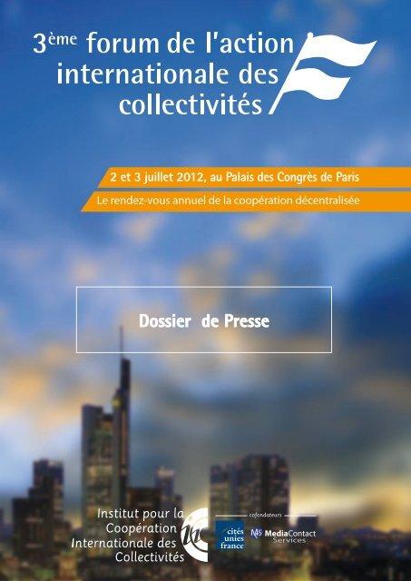 Dossier de Presse - Cités Unies France