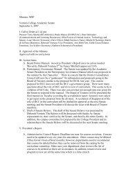 Academic Senate Meeting, Thursday, September ... - Ventura College