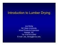 Introduction to Lumber Drying - North Carolina State University