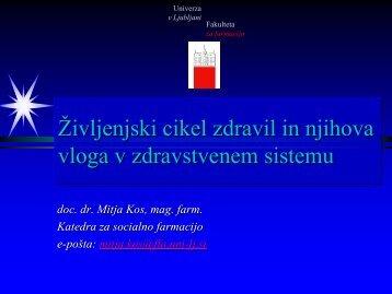 EUR - Fakulteta za farmacijo - Univerza v Ljubljani