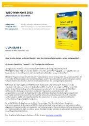 WISO Mein Geld 2013 Standard - Buhl Replication Service GmbH