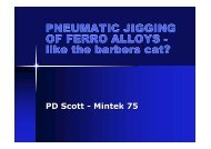 PNEUMATIC JIGGING OF FERRO ALLOYS - like the ... - Mintek