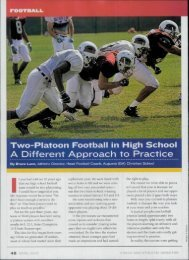 A Different Approach to Practice - Fast and Furious Football