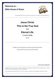 Jesus Christ. This is the True God Eternal Life. - Bible House of Grace