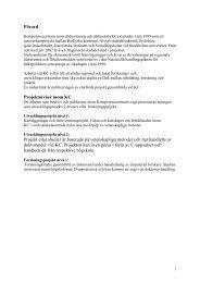 Förord Projektnivåer inom KC Projekt eller studier är baserade på ...