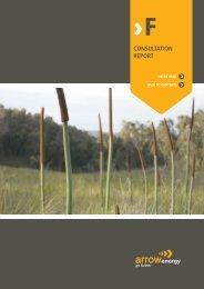 Consultation Report Surat Gas Project EIS - Arrow Energy