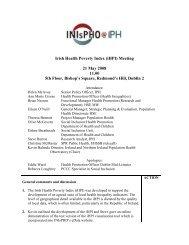 Irish Health Poverty Index (iHPI) Meeting 21 May 2008 11.00 5th ...