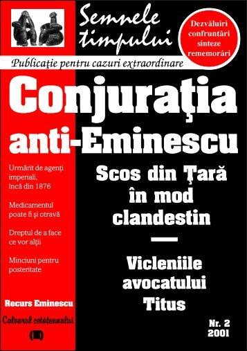 Călin L. Cernăianu, Conjuraţia anti-Eminescu, 2