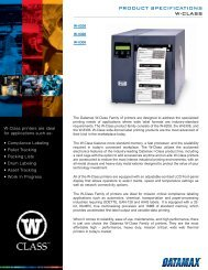 PRODUCT SPECIFICATIONS W-CLASS - Barcode Discount