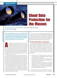 Cloud Data Protection for the Masses - Computer Science Department