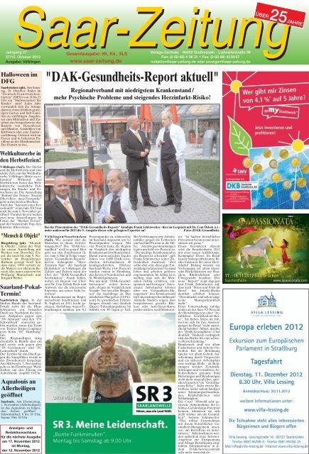 27 10 2012 Saar Zeitung