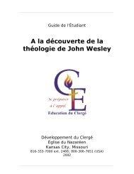 A la découverte de la théologie de John Wesley - USA / Canada ...