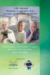 Activity Brochure - Continuing Medical Education - Wayne State ...