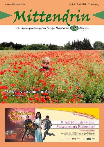 Ausgabe Juni 2011 - mittendrin-s5.de