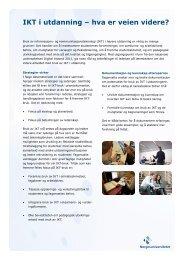 IKT i utdanning – hva er veien videre? - Norgesuniversitetet