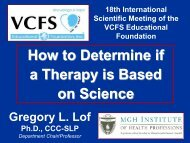 How to determine if a therapy is based on science