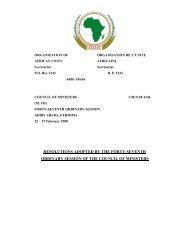Decisions and Declarations - Union africaine