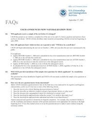 USCIS ANNOUNCES NEW NATURALIZATION TEST - cofem