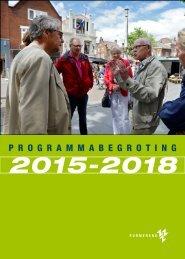 Programmabegroting 2015