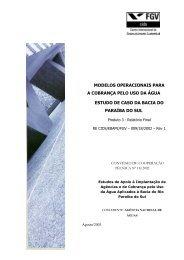 Modelos Operacionais para cobrança pelo uso da água - Comitê da ...
