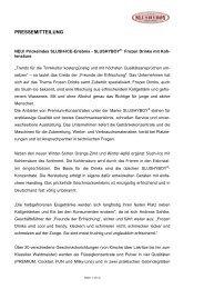 PRESSEMITTEILUNG - Freunde der Erfrischung GmbH