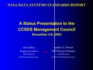 A14 - NASA Report - CCSDS
