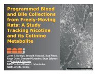 Programmed Blood and Bile Collections from Freely-Moving ... - BASi