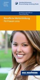 Berufliche Weiterbildung für Frauen 2012 - Handwerkskammer ...