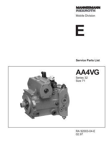 AA4VG71 Series 32 - DDKS Industries, hydraulic components ...
