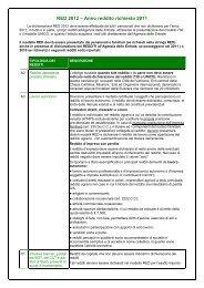 RED 2012 – Anno reddito richiesto 2011 - Cisl
