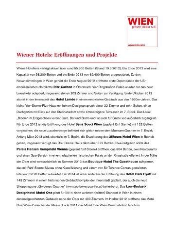 Wiener Hotels: Eröffnungen und Projekte - Vienna