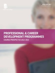 professional & career development programmes - Leeds City College