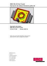 EMCO Win 3D-View Fresado Descripción del software Simulación ...