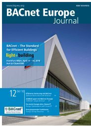 BACnet – The Standard for Efficient Buildings