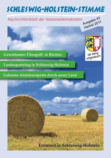 Erntezeit in Schleswig-Holstein - Schleswig-Holstein-Stimme - NPD ...