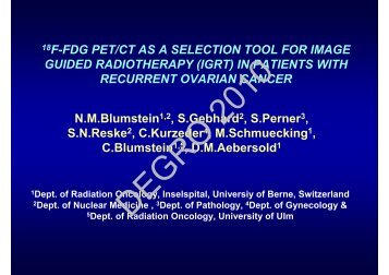 18F-FDG PET/CT AS A SELECTION TOOL FOR ... - Wcenter.de