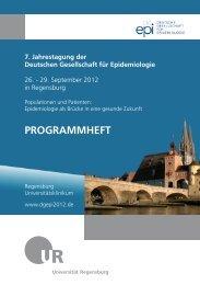 PROGRAMMHEFT - 7. Jahrestagung der Deutschen Gesellschaft für ...