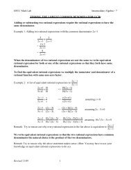 Intermediate Algebra 07: Finding the Lowest Common Denominator