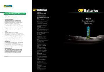NiCd Rechargeable Batteries - Gold Peak Industries
