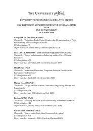 PhD awards 2007/8 & 2008/9 (PDF , 158kb) - University of York