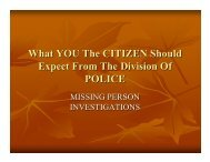 What YOU The CITIZEN Should Expect From The ... - City of Cleveland