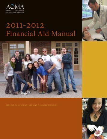 Financial Aid Manual - AOMA Graduate School of Integrative Medicine