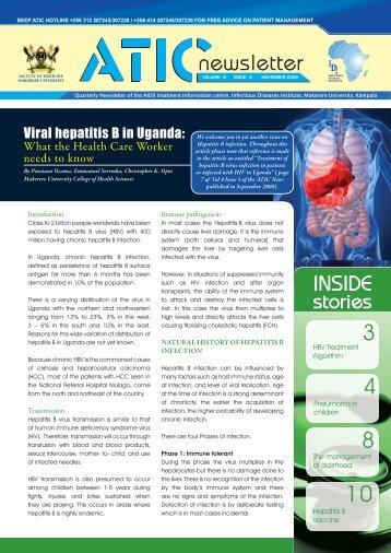 atic newsletter Dec 2009.pdf - Infectious Diseases Institute
