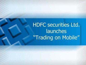 User Manual - HDFC Securities