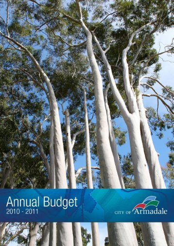 Annual Budget 2010 - 2011 (PDF 2.25 MB) - City of Armadale