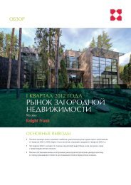 [pdf] рынок загородной недвижимости - Knight Frank