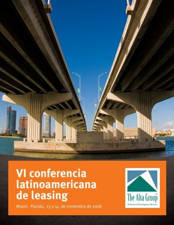 VI conferencia latinoamericana de leasing - The Alta Group