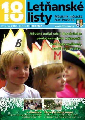 Advent začal sérií divadelních představení pro ... - Letňanské listy
